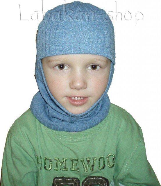 Hřejivá dětská termo(thermo) kukla-šedá, tm.modrá