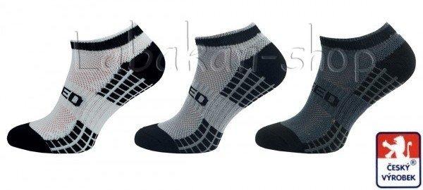 Kotníkové sportovní ponožky s odvětrávací mřížkou(speed)