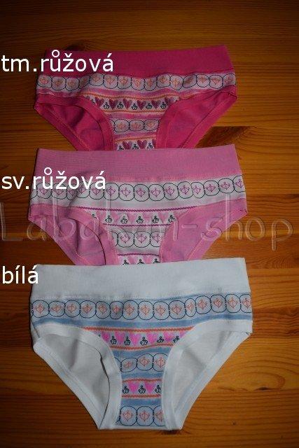 Dívčí kalhotky EMY(vzor kotvičky)