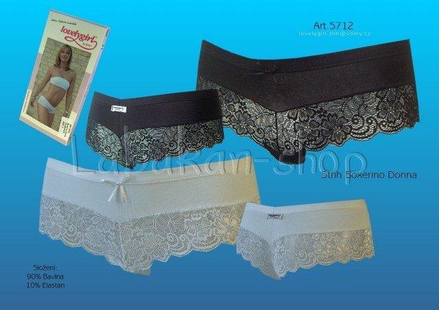 Dámské kalhotky LOVELYGIRL 5712-bílá 0661594587
