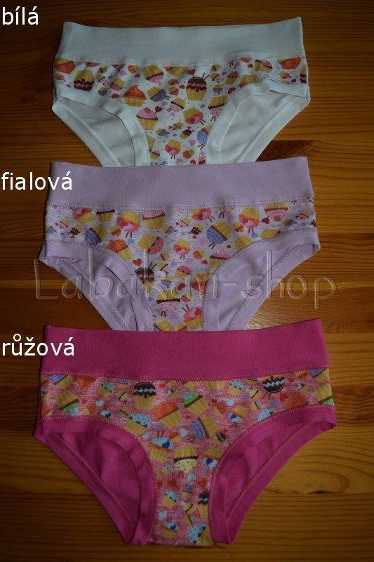 Dívčí kalhotky EMY(vzor cupcake)