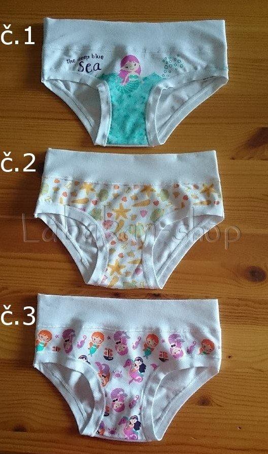 Dívčí kalhotky EMY(vzor moře)