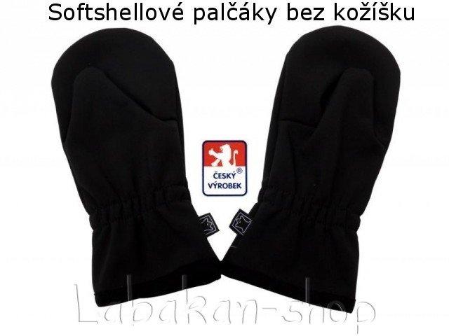 Dětské softshellové rukavice bez kožíšku-palčáky