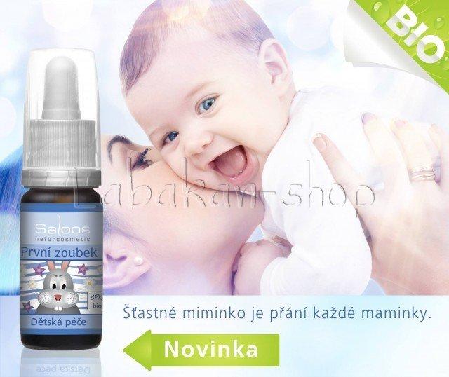 SALOOS První zoubek-dětský olej na bolavé dásně