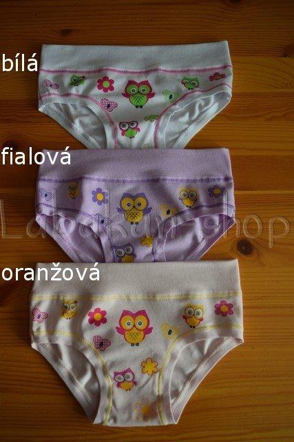 Dívčí kalhotky EMY(vzor sovičky)