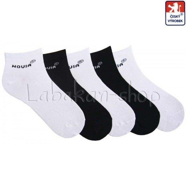 8497dd31844 Jednobarevné kotníkové ponožky-bílá