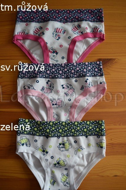 Dívčí kalhotky EMY(vzor kočičky)