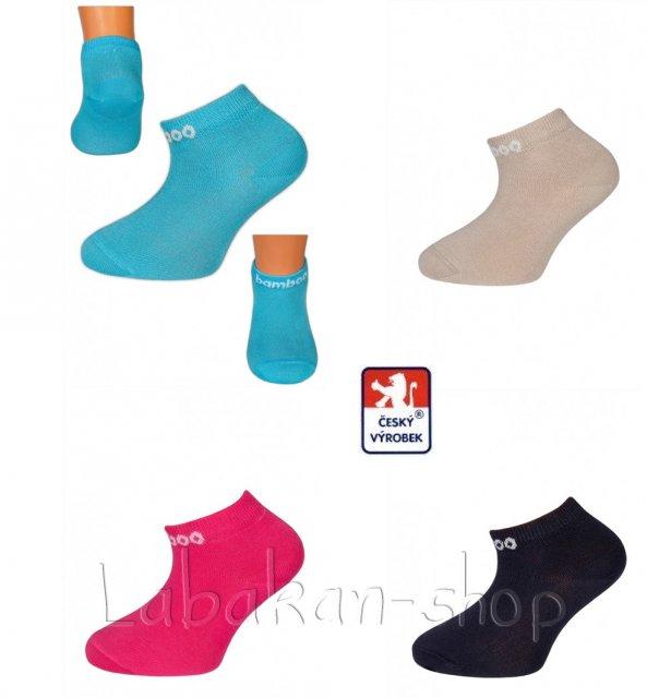Dětské kotníčkové bambusové antibakteriální ponožky