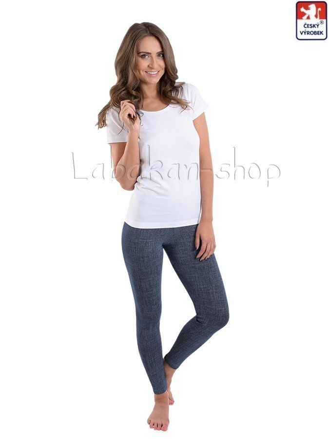 Dámské dlouhé džínové(riflové) legíny LEA(M-XL)